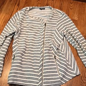 Lucky brand blue and white striped jacket